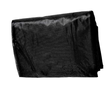 Netkaná černá textilie 1,6x5m