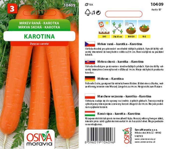 Seva Moravia s.r.o. VALTICE Mrkev KAROTINA