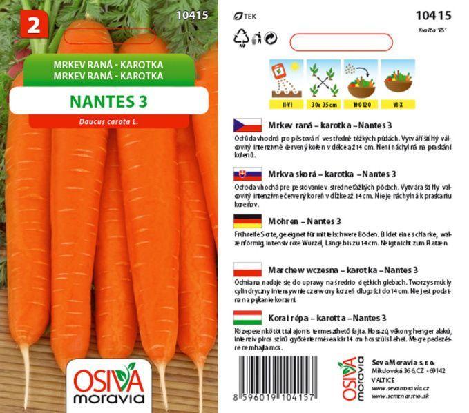 Seva Moravia s.r.o. VALTICE Mrkev NANTES 3 (TIP TOP)
