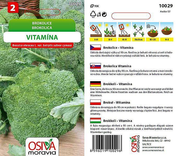 Seva Moravia s.r.o. VALTICE Brokolice VITAMÍNA