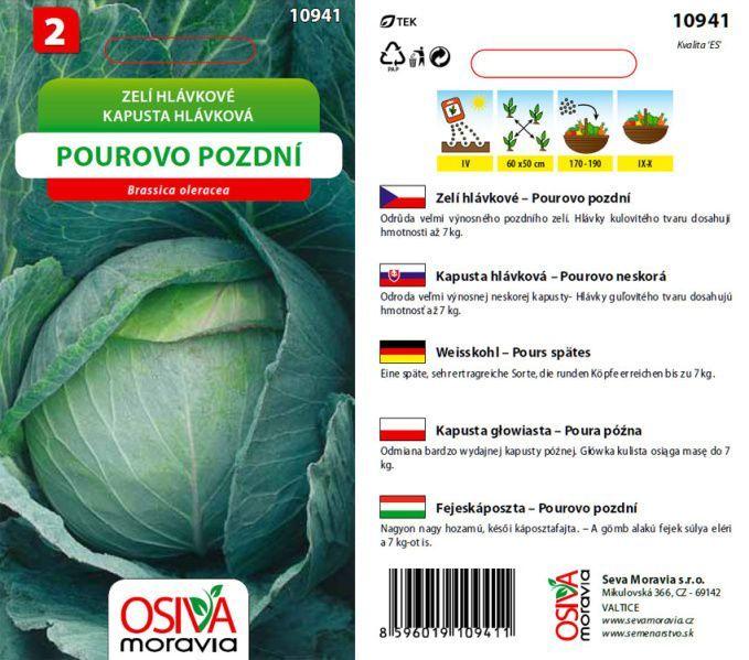Seva Moravia s.r.o. VALTICE Hlávkové zelí POUROVO POZDNÍ